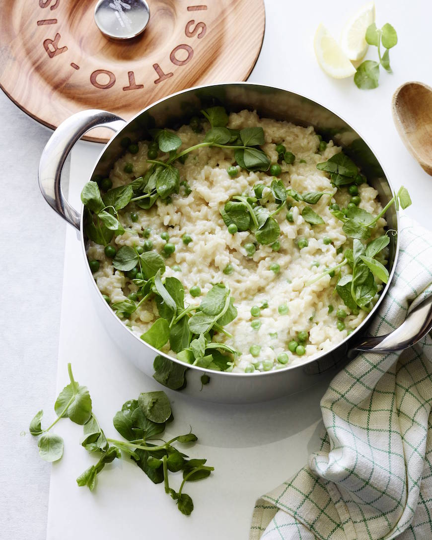 Spring Pea Risotto from www.whatsgabycooking.com (@whatsgabycookin)
