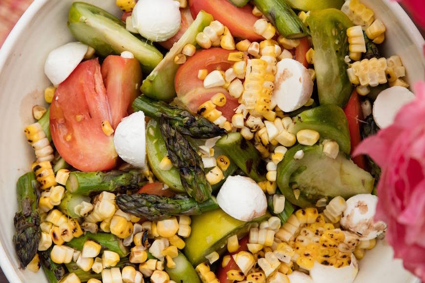 Asparagus, Basil and Corn Salad