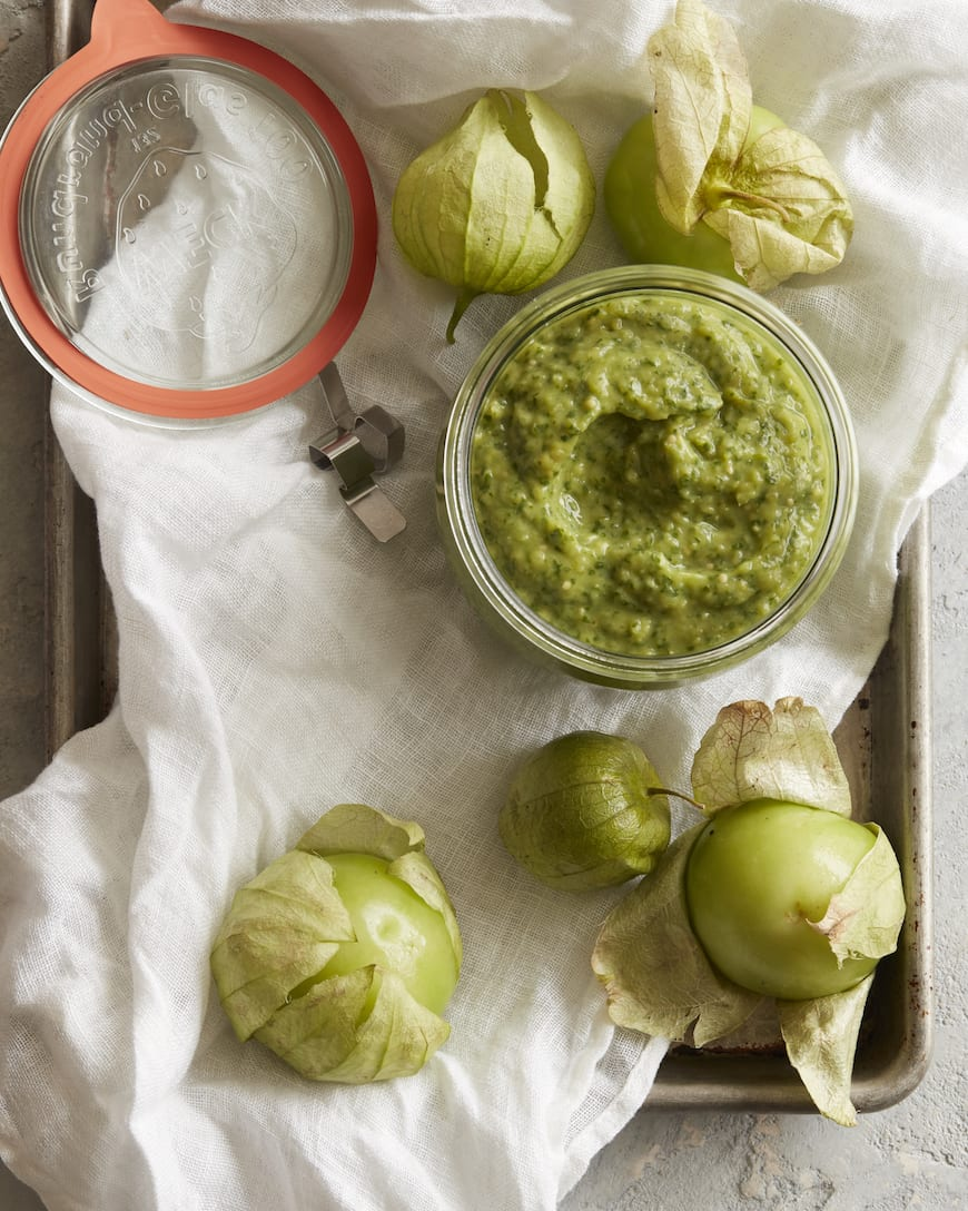 Tomatillo Avocado Salad Dressing from www.whatsgabycooking.com (@whatsgabycookin)
