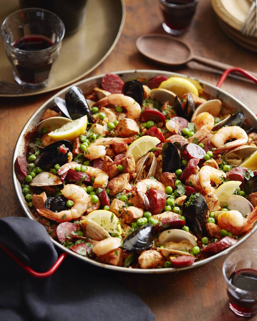 Spanish Paella from www.whatsgabycooking.com (@whatsgabycookin)