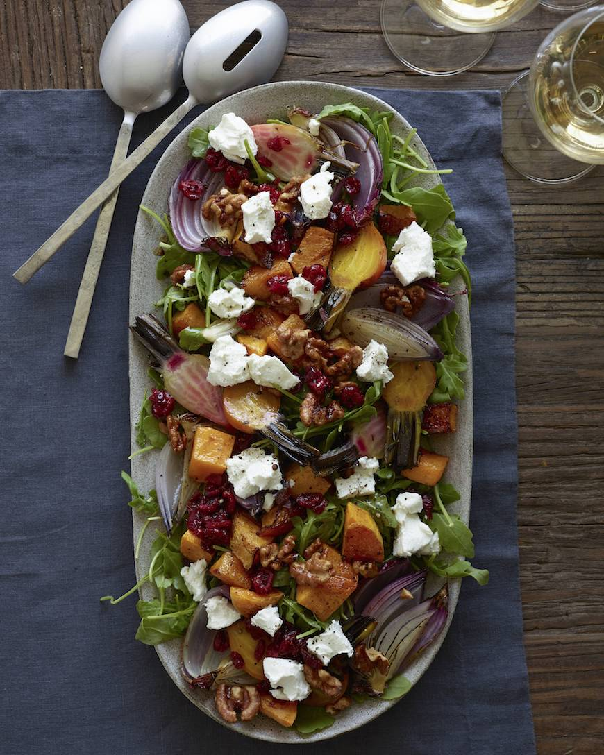 Roasted Butternut Squash Salad from www.whatsgabycooking.com (@whatsgabycookin)