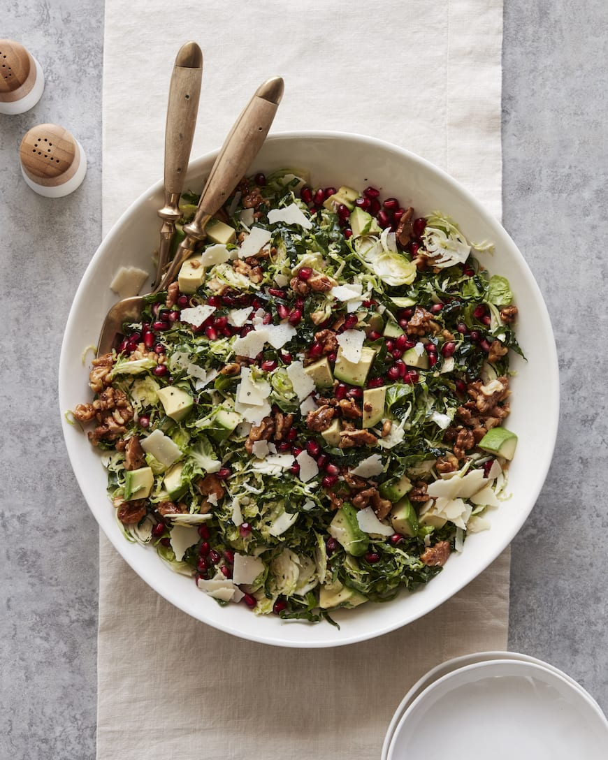 Shredded Brussels Sprouts Salad from www.whatsgabycooking.com (@whatsgabycookin)