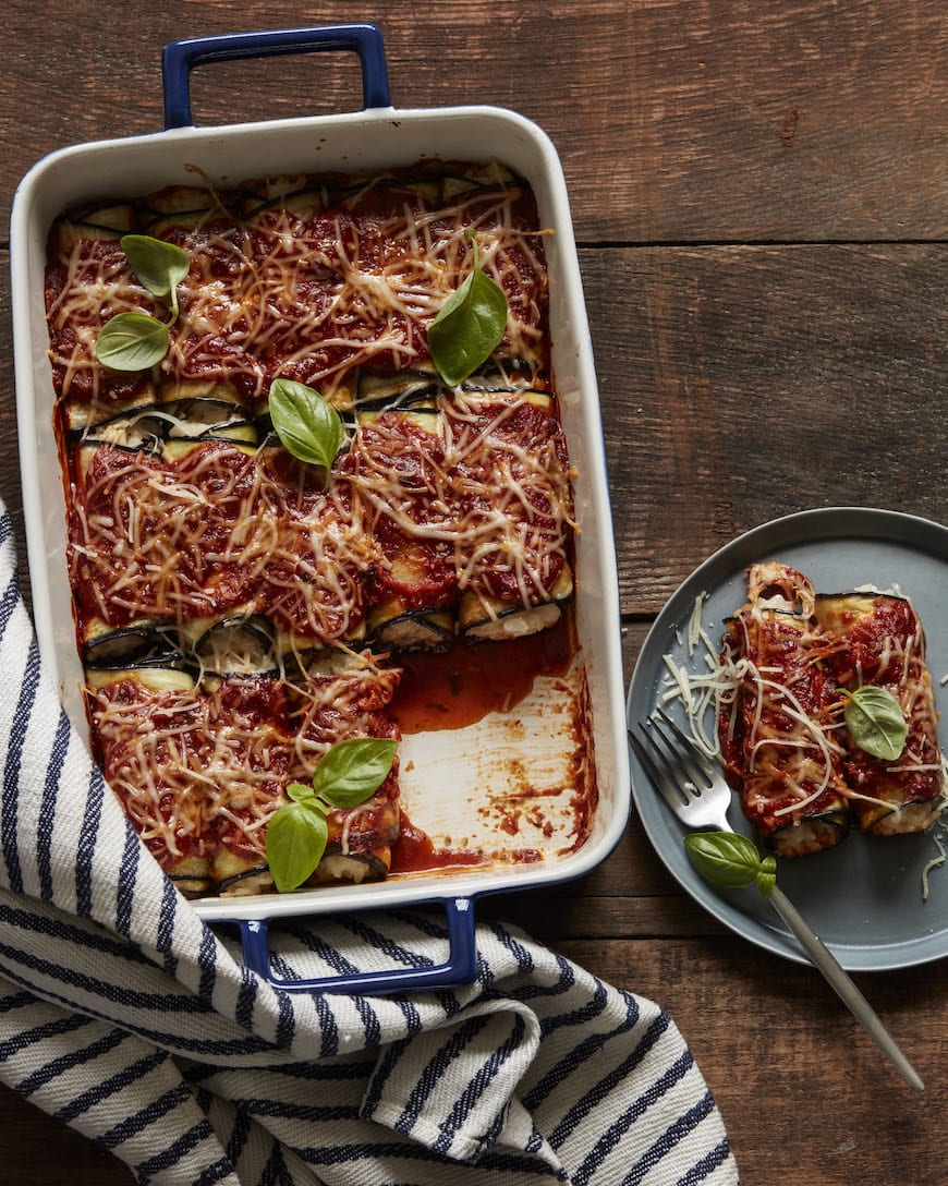 Eggplant Rollatini // Part of the Valentine's Day Menu from www.whatsgabycooking.com (@whatsgabycookin)