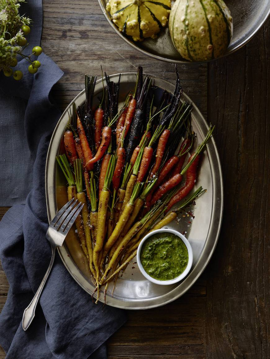 Charred Carrots with Herbs from www.whatsgabycooking.com (@whatsgabycookin)