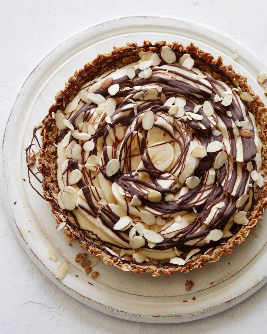 Chocolate and Banana Cream Tart from www.whatsgabycooking.com (@whatsgabycookin)