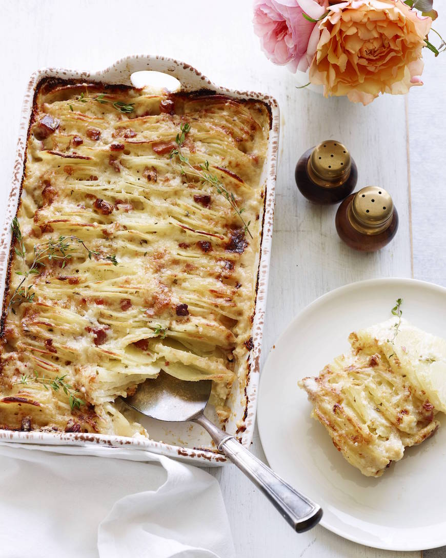 Hasselback Scalloped Potatoes from www.whatsgabycooking.com (@whatsgabycookin)