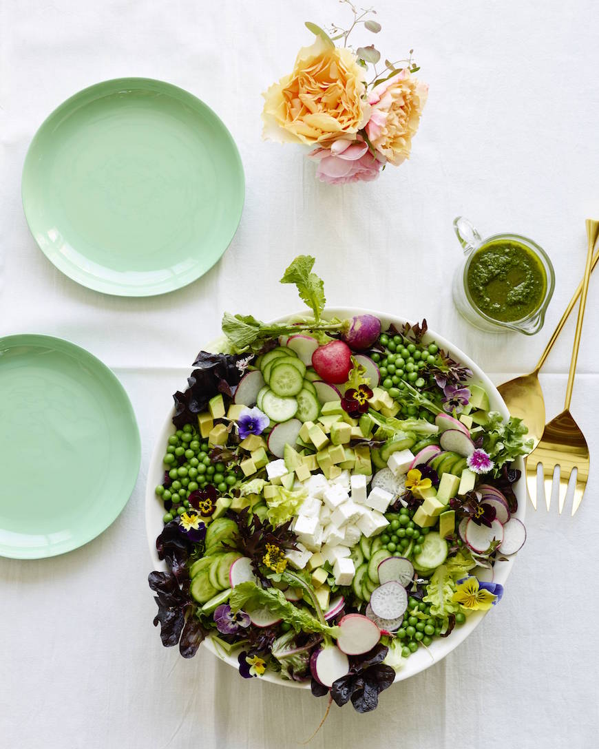 Spring Pea Salad from www.whatsgabycooking.com (@whatsgabycookin)