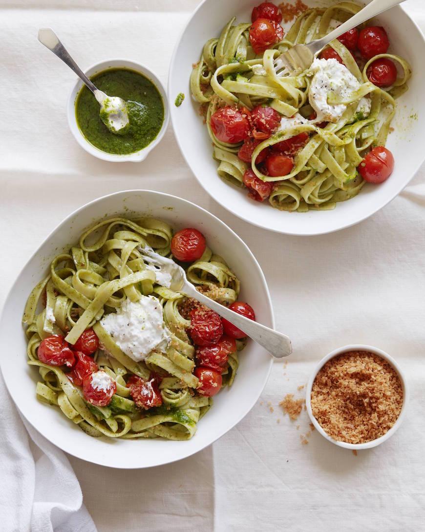 Tomato Basil Pasta with Burrata from www.whatsgabycooking.com (@whatsgabycookin)