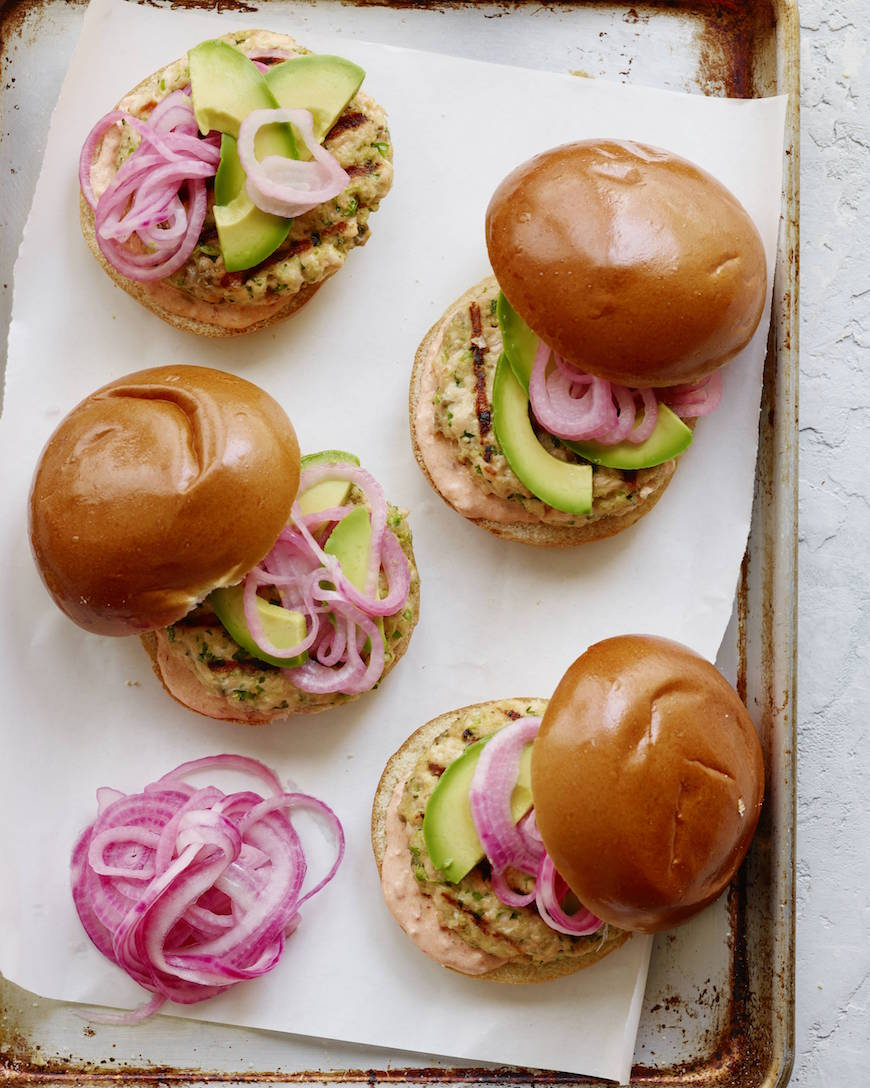 Spiced Salmon Burgers from www.whatsgabycooking.com (@whatsgabycookin)