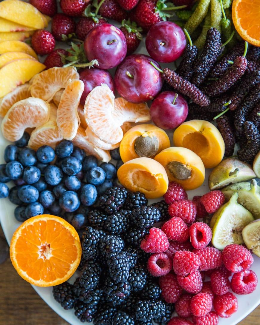 turkey fruit platter figs fruit