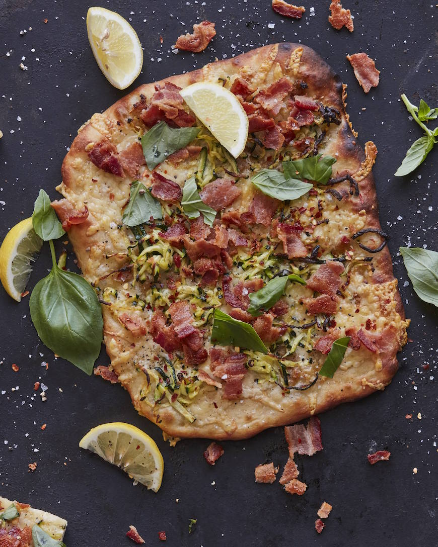 Roman Zucchini Pizza from www.whatsgabycooking.com (@whatsgabycookin)