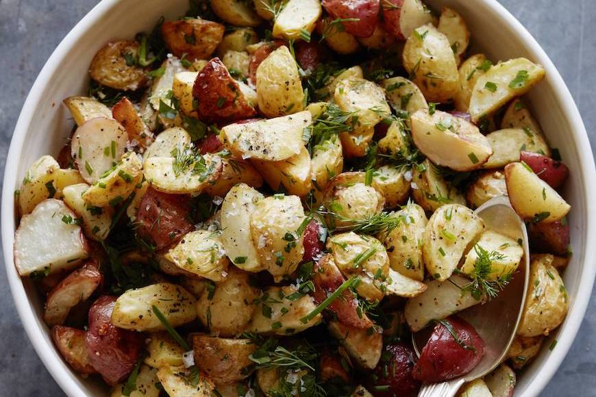 Herb Roasted Baby Potatoes from www.whatsgabycooking.com (@whatsgabycookin)