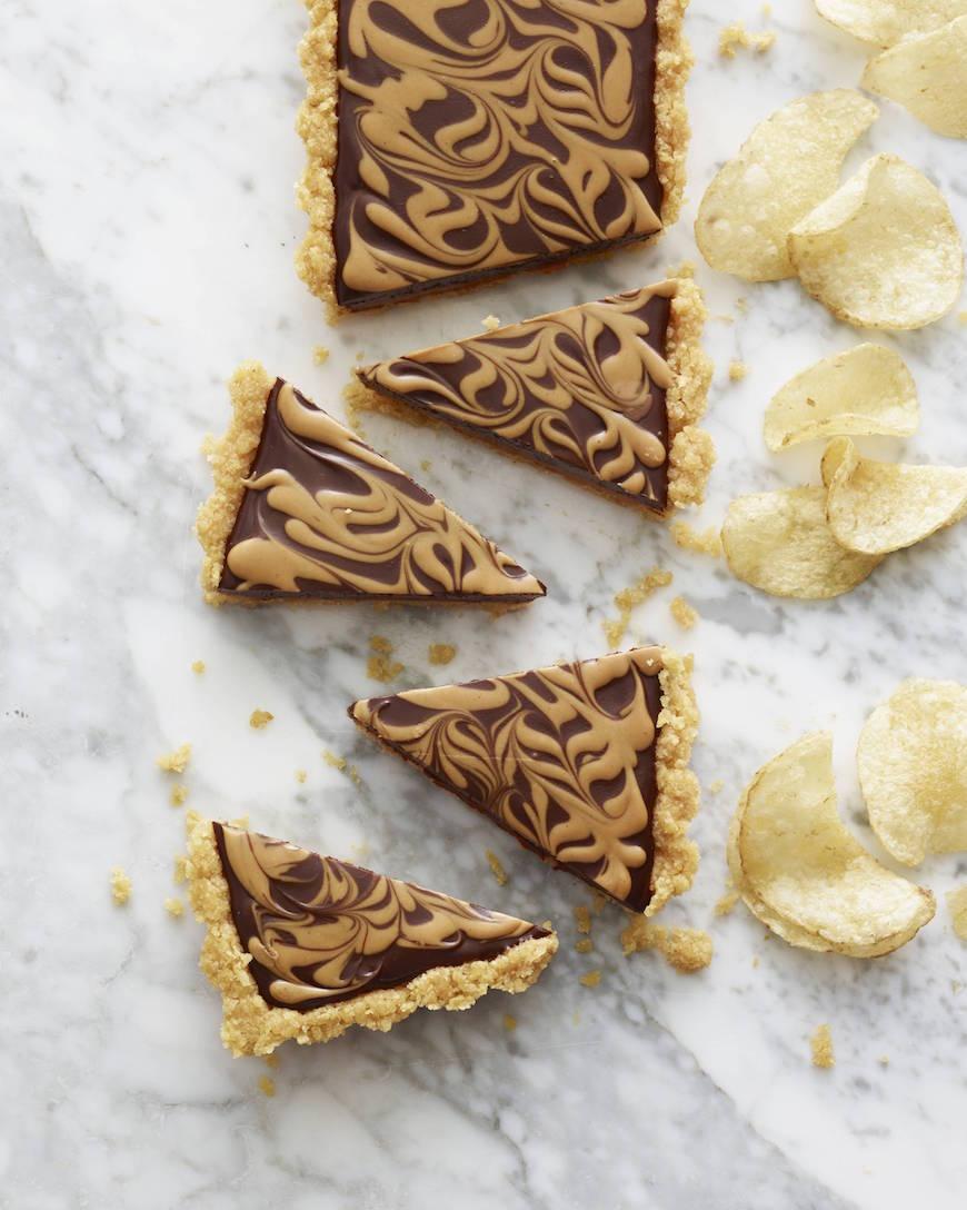 Chocolate Peanut Butter Swirl Tart