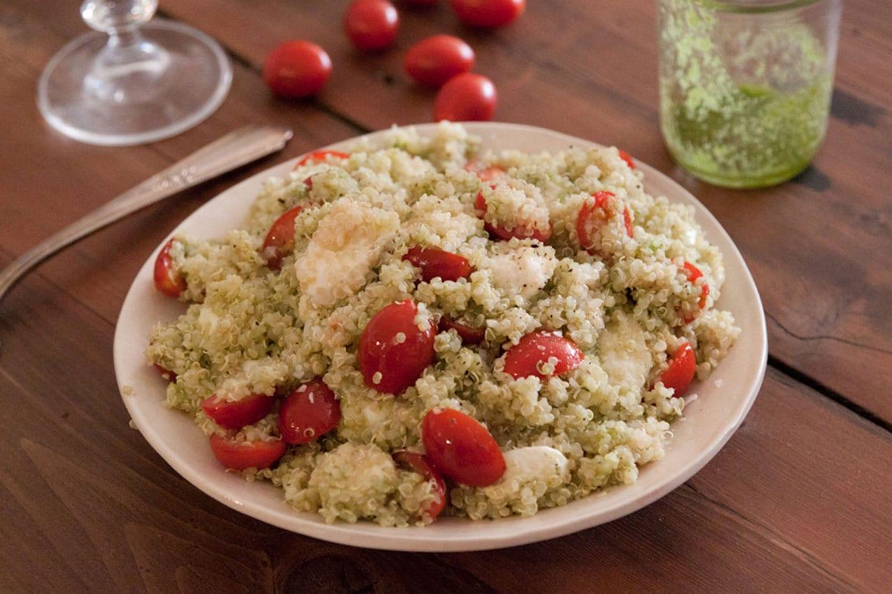 Pesto Caprese Quinoa Salad