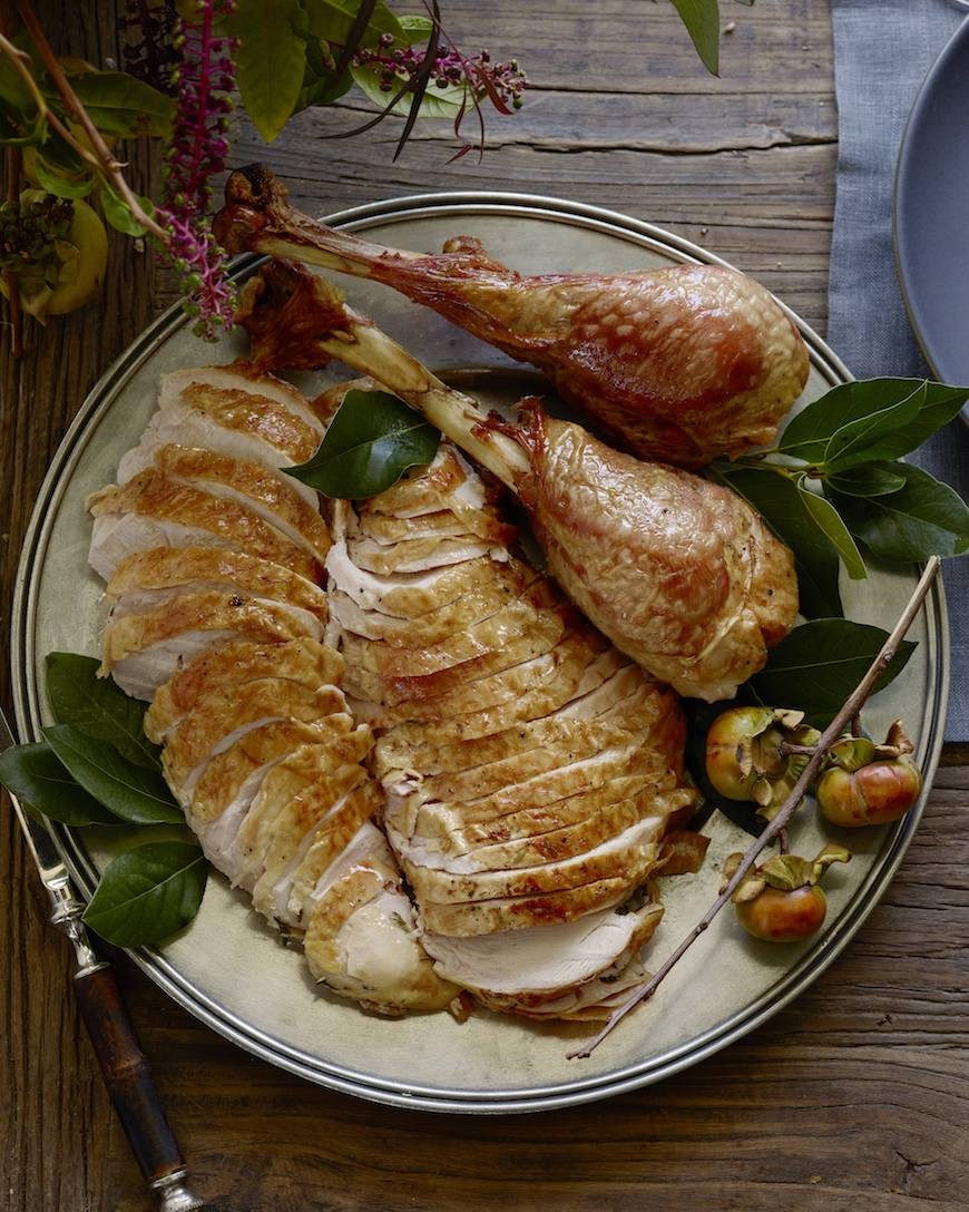 Herb Roasted Spatchcock Turkey from www.whatsgabycooking.com (@whatsgabycookin)