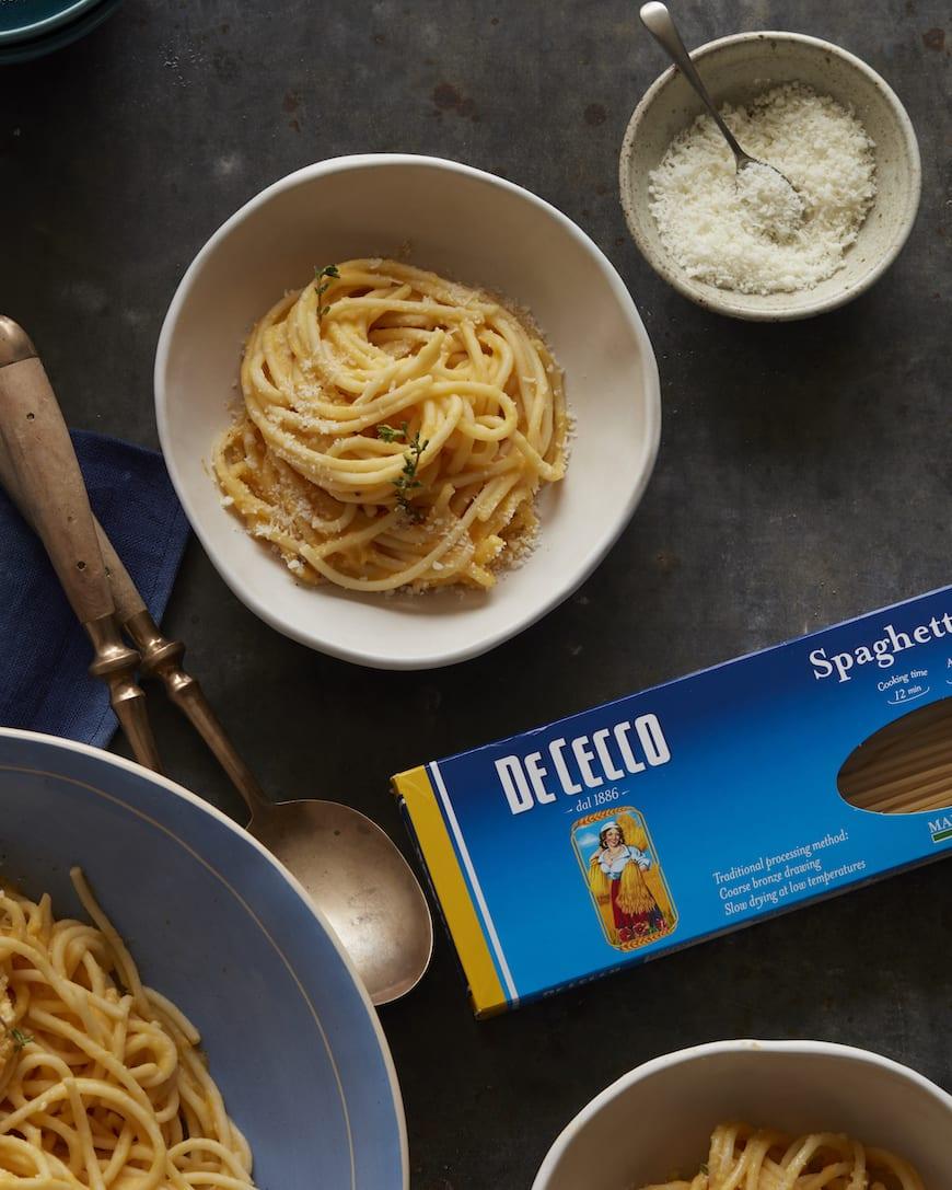 Creamy Butternut Squash Pasta from www.whatsgabycooking.com (@whatsgabycookin)