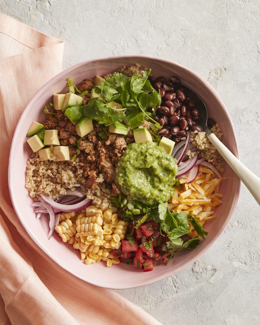 Quinoa Taco Bowls from www.whatsgabycooking.com (@whatsgabycookin)