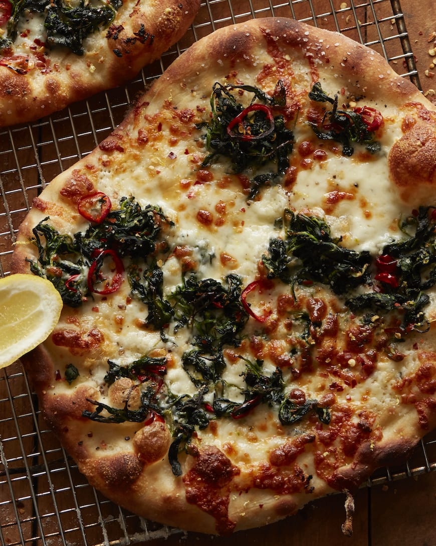 White Pizza with Spinach from www.whatsgabycooking.com (@whatsgabycookin)