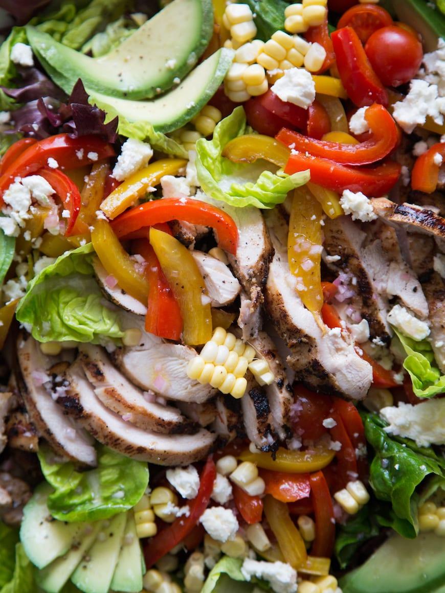 Avocado + Chicken Fajita Cobb from www.whatsgabycooking.com (@whatsgabycookin)