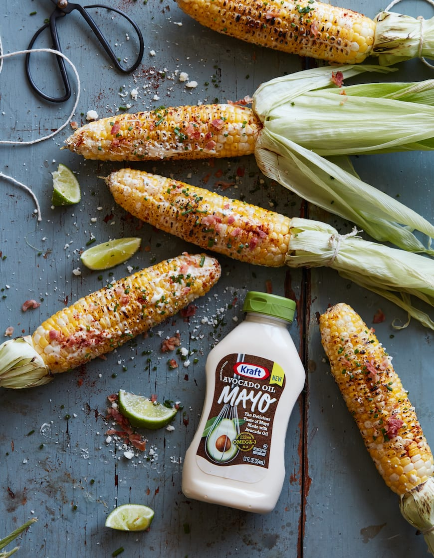 Grilled Avocado Street Corn from www.whatsgabycooking.com (@whatsgabycookin)