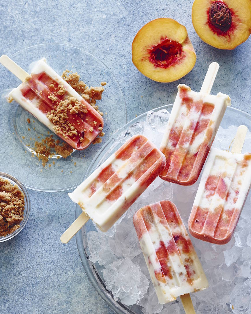 Peaches 'n Cream Pops from www.whatsgabycooking.com (@ ...