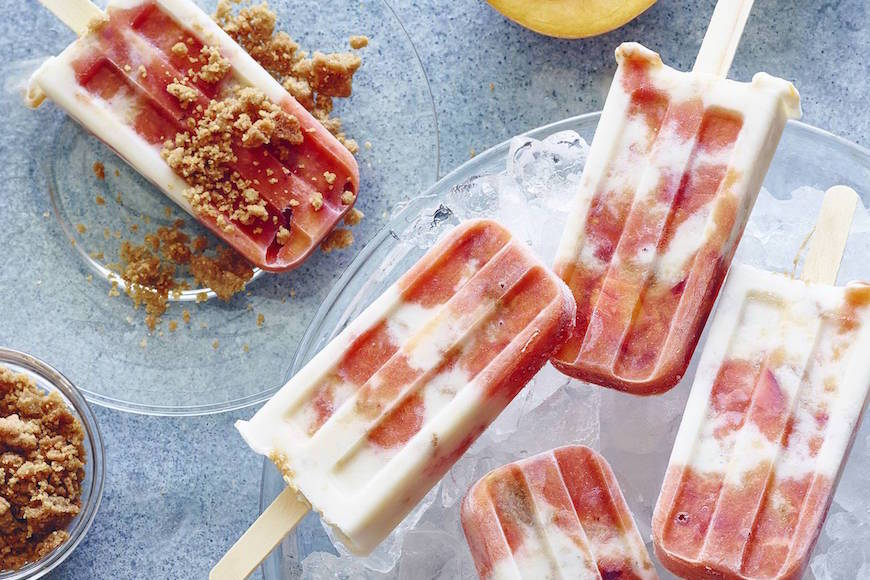 Peaches 'n Cream Pops