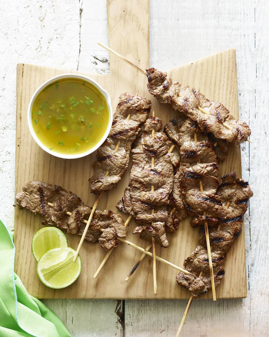 ... Flank Steak Skewers with Cilantro Dipping Sauce you're be shocked