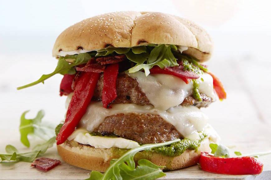 Double Decker Italian Turkey Burger