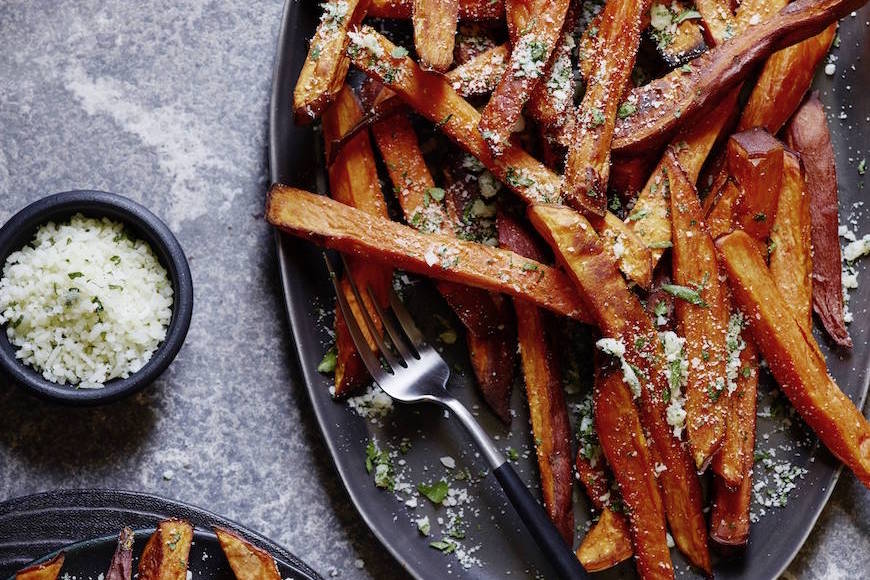 Garlic and Herb Sweetpotato Fries