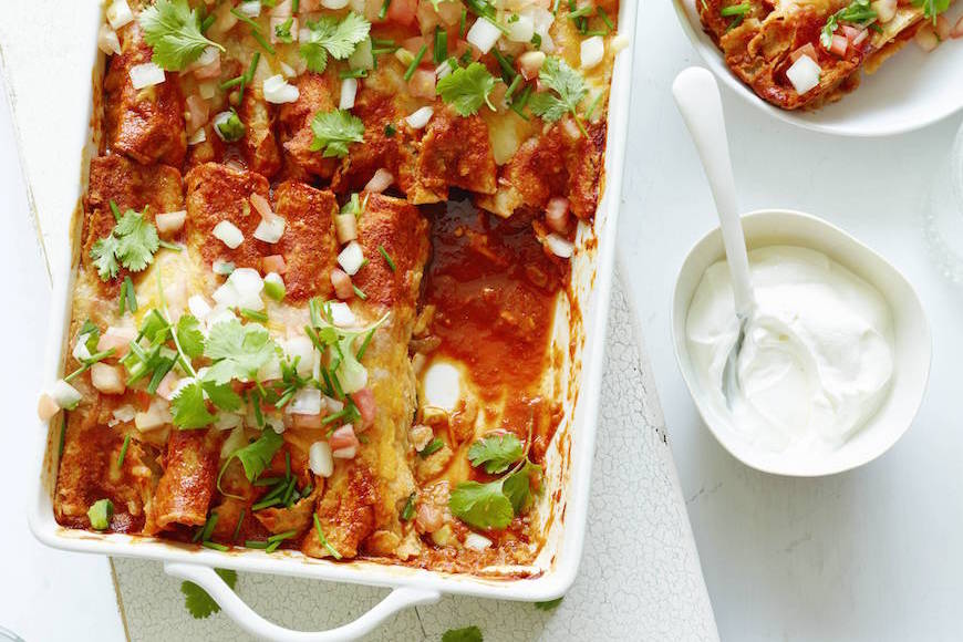 Chicken-Corn-and-Poblano-Enchiladas-