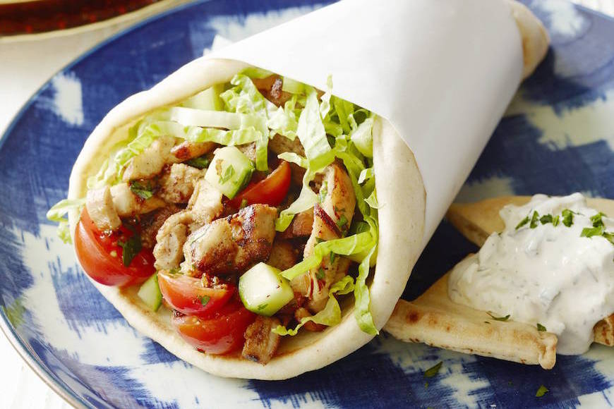 Chicken-Shawarma-Stuffed-Pita
