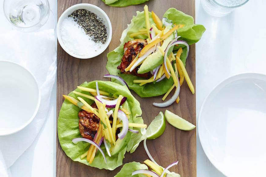 Chipotle Chicken Lettuce Wraps - What's Gaby Cooking