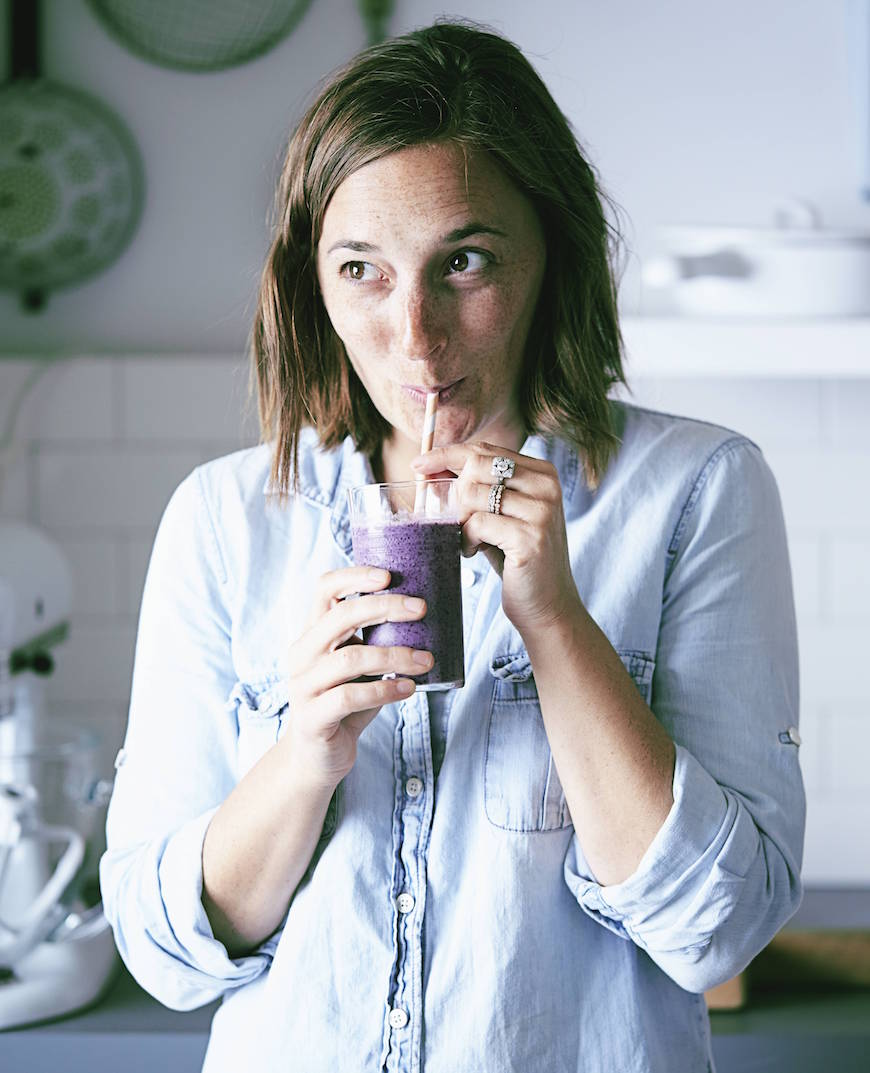 Banana Blueberry Smoothies from www.whatsgabycooking.com (@whatsgabycookin)