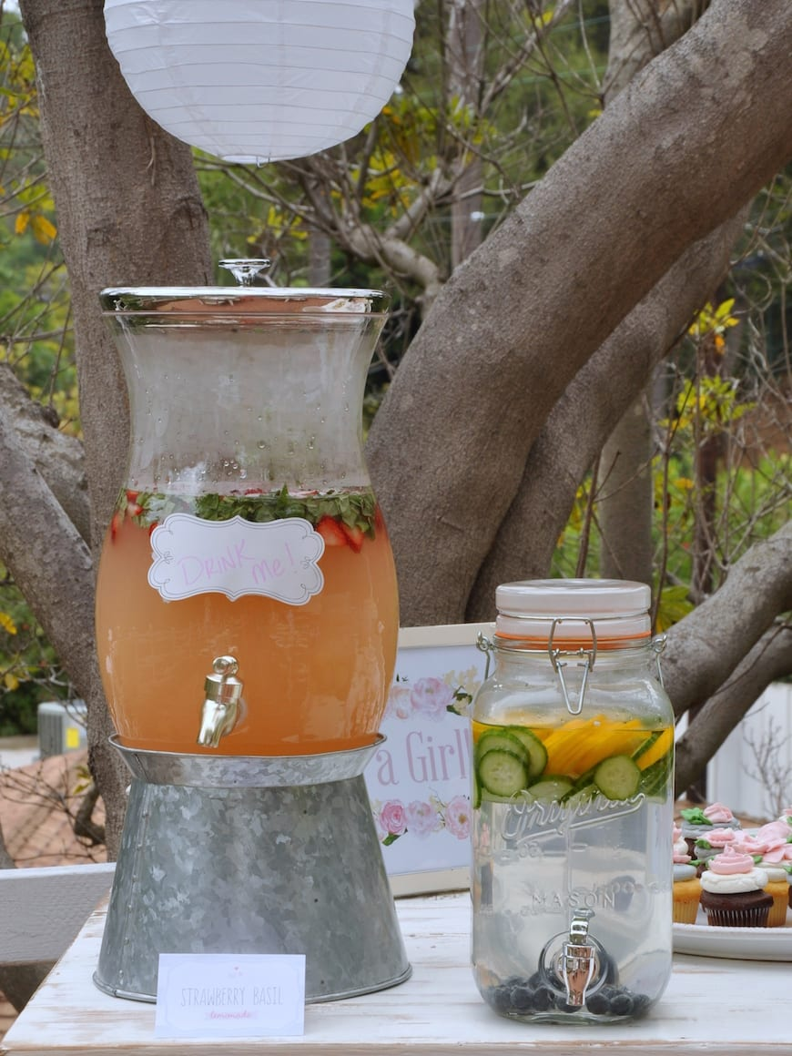 Baby Shower Menu from www.whatsgabycooking.com Strawberry Basil Lemonade and Spa Water (@whatsgabycookin)