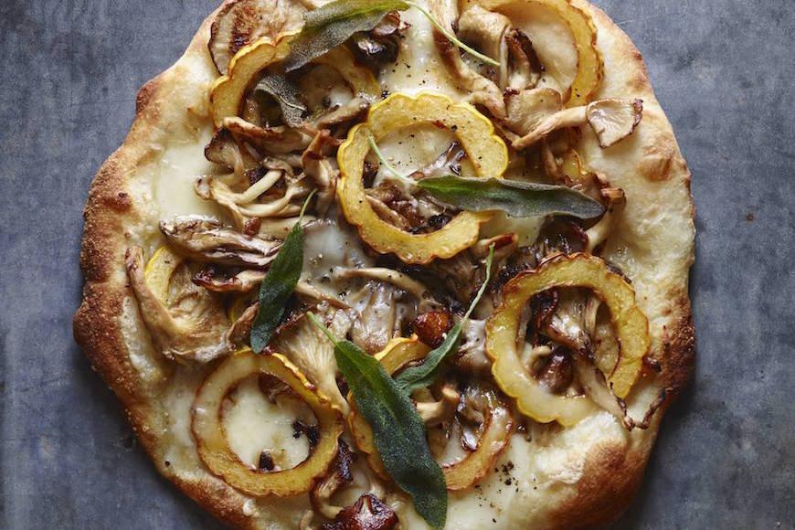 Wild Mushroom Roasted Squash Pizza