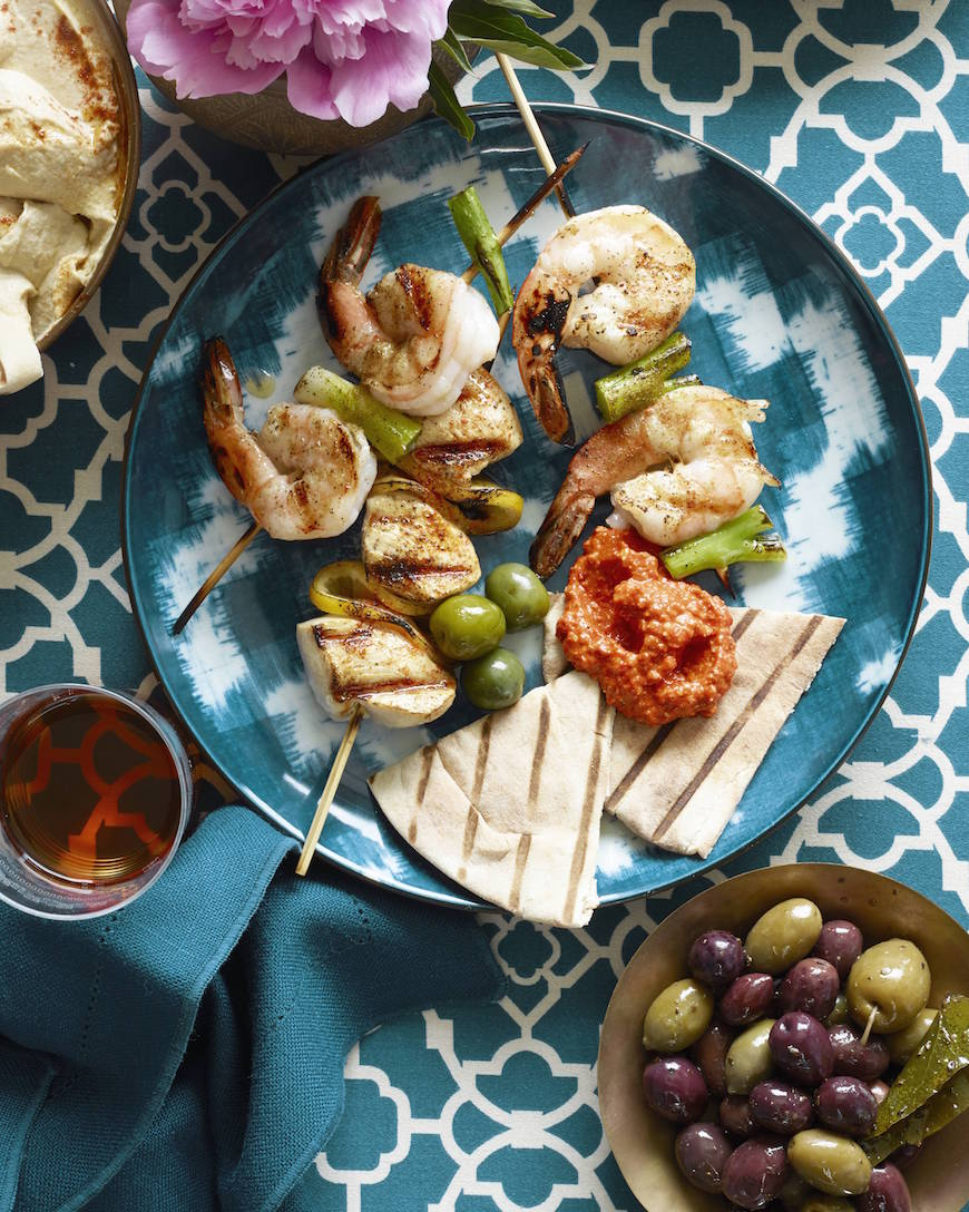 Mezze Bar Skewers from www.whatsgabycooking.com (@whatsgabycookin)