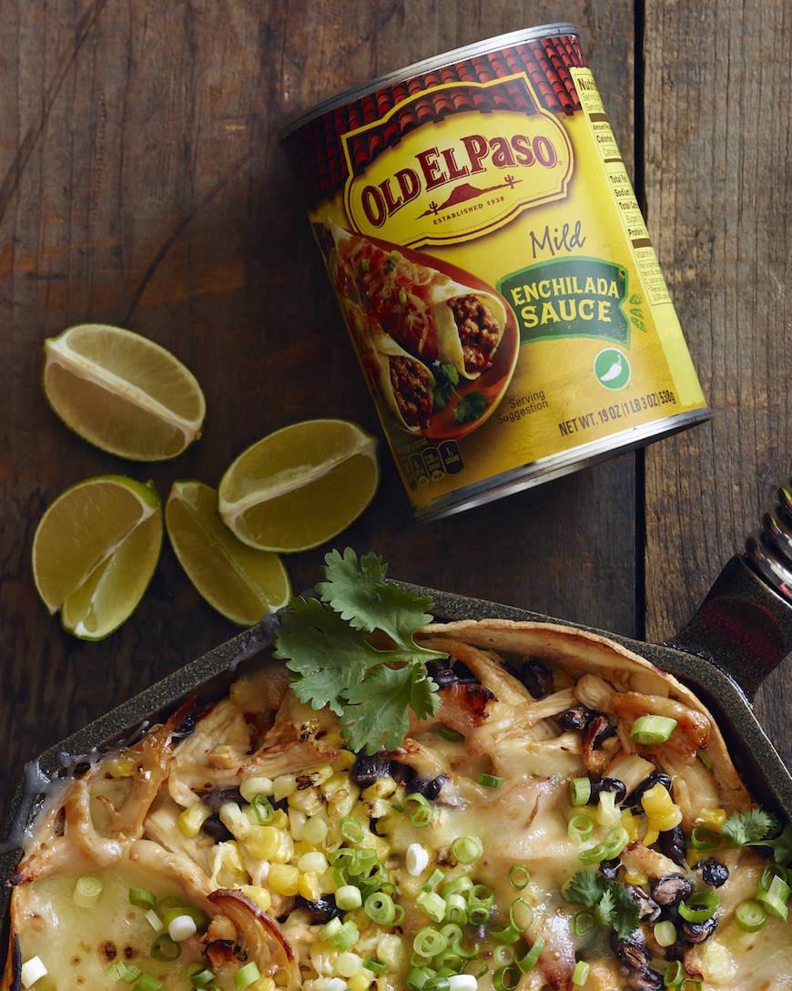 Skillet Chipotle Chicken Enchilada Bake from www.whatsgabycooking.com (@whatsgabycookin)