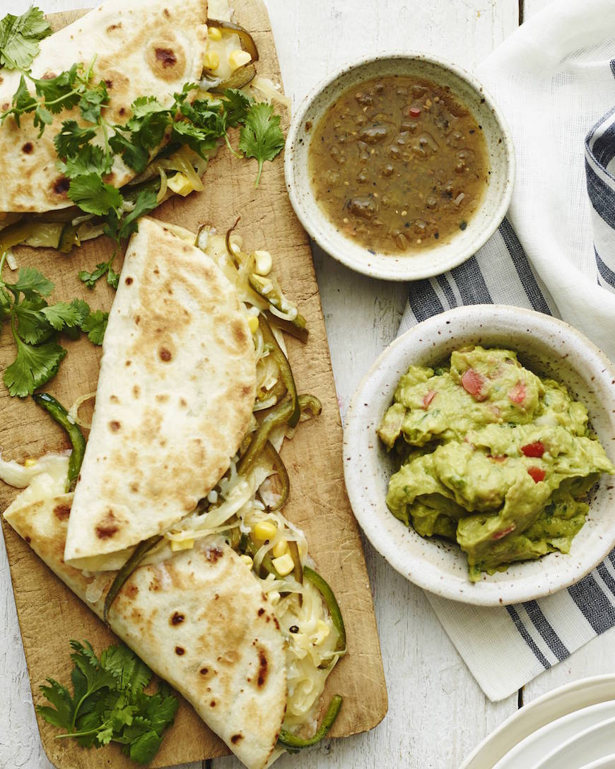 Poblano Corn Quesadillas! 1 of 10 easy weeknight / back to school meals from www.whatsgabycooking.com (@whatsgabycookin)