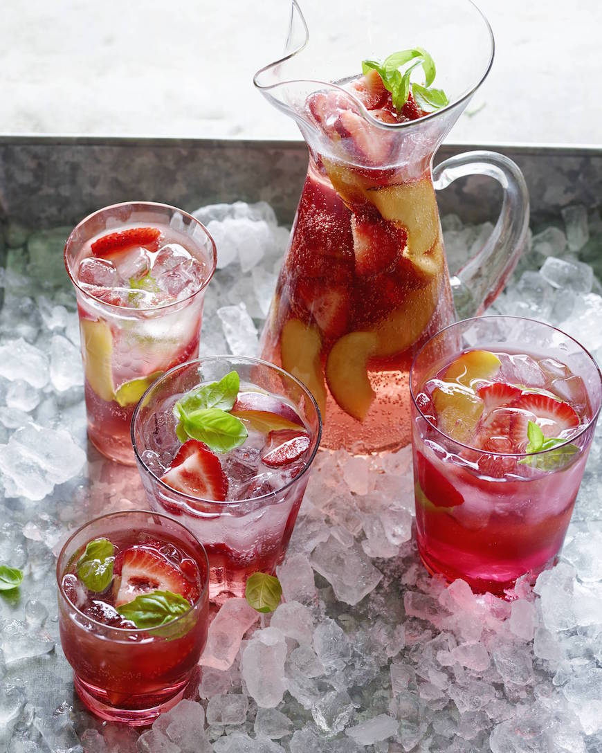 Peach and Cherry Sangria from www.whatsgabycooking.com (@whatsgabycookin)