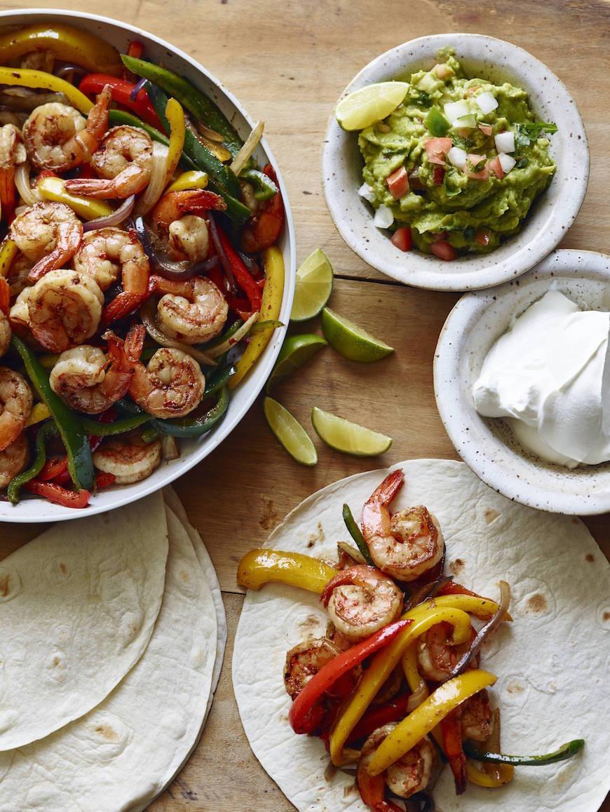 Shrimp Fajitas - What's Gaby Cooking