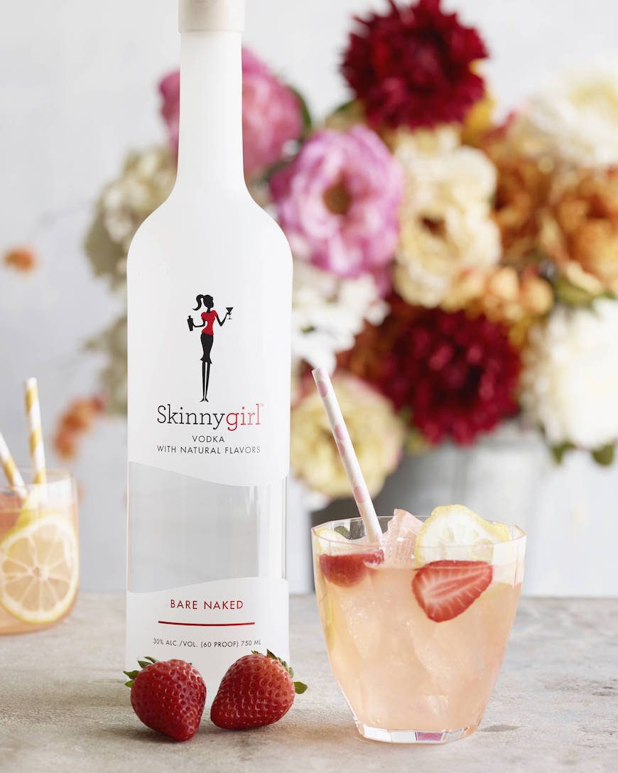 Spiked Pink Lemonade from www.whatsgabycooking.com It's the perfect thing to sip on this spring! (@whatsgabycookin)