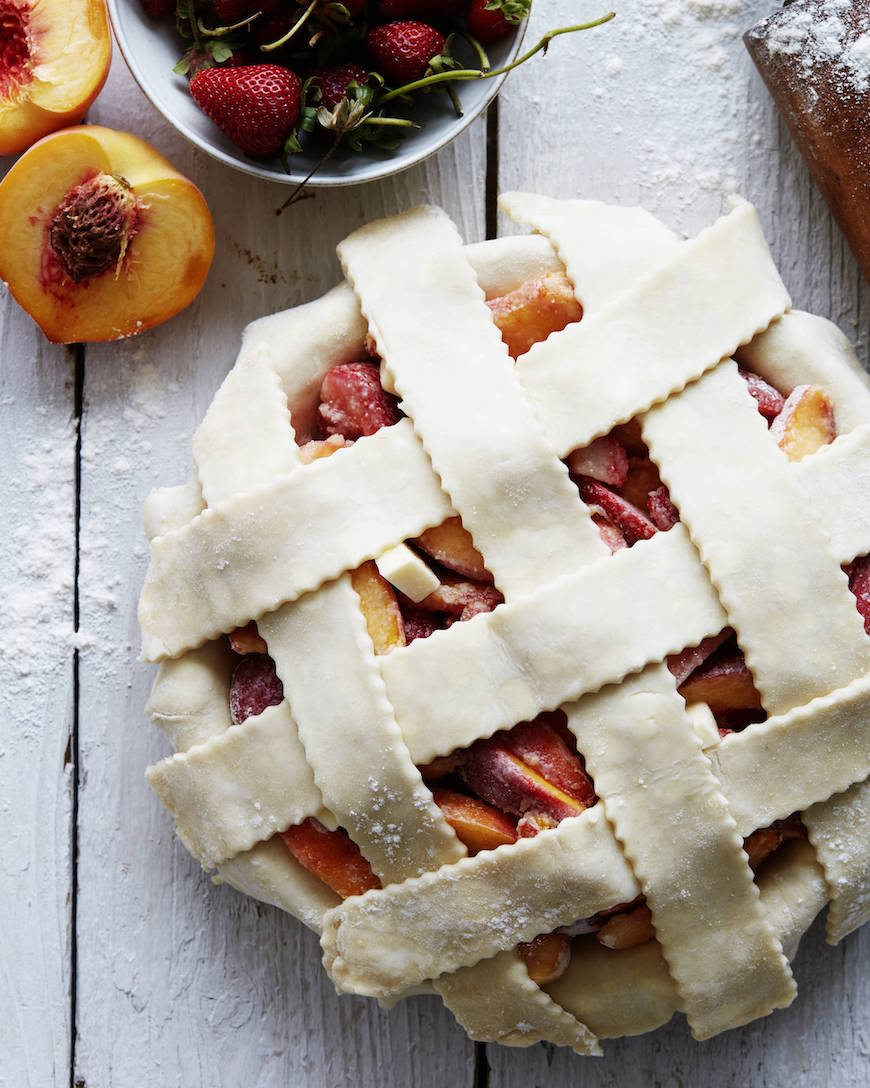Strawberry Peach Pie Prep from www.whatsgabycooking.com (@whatsgabycookin)