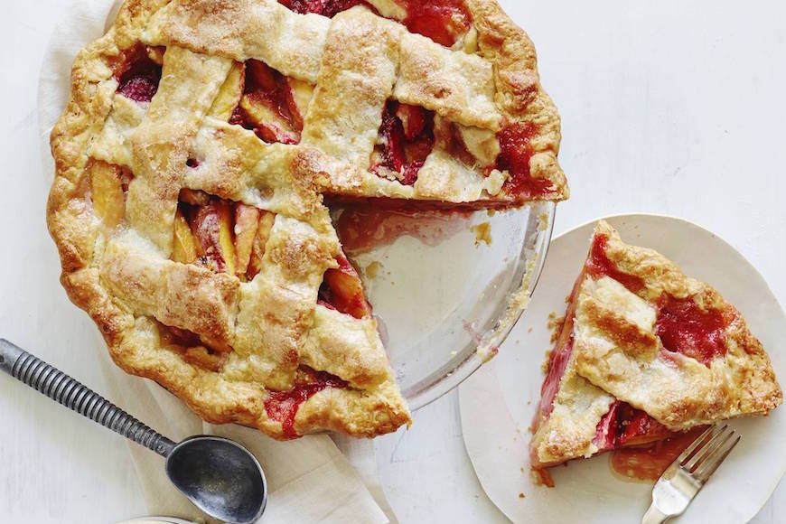 Strawberry Peach Pie from www.whatsgabycooking.com (@whatsgabycookin)