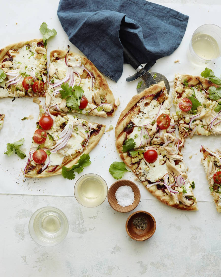 Grilled BBQ Chicken Pizza from www.whatsgabycooking.com (@whatsgabycookin)