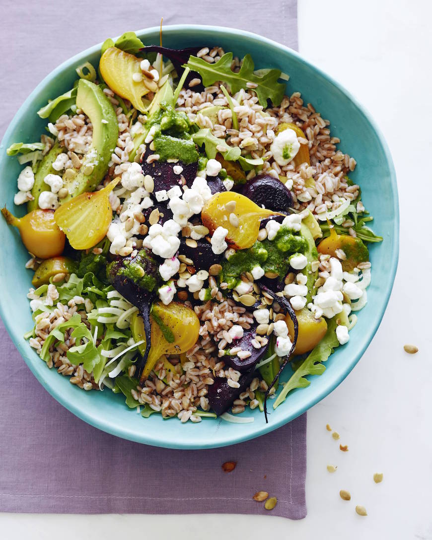 Goat Cheese, Roasted Beet and Farro Salad from www.whatsgabycooking.com (@whatsgabycookin)