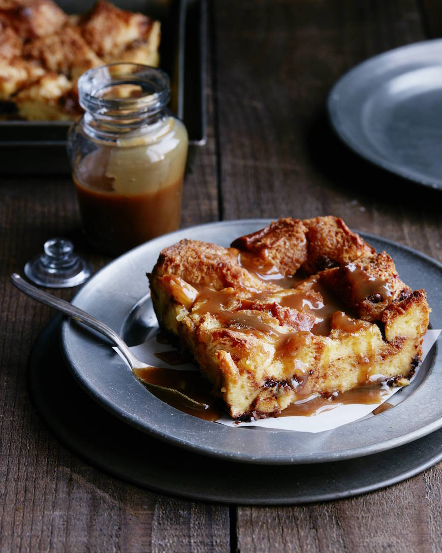 Chocolate Chip Bread Pudding from www.whatsgabycooking.com (@whatsgabycookin)