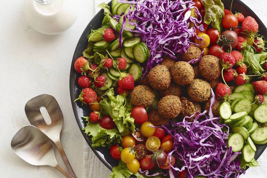 Loaded Falafel Salad from www.whatsgabycooking.com (@whatsgabycookin)