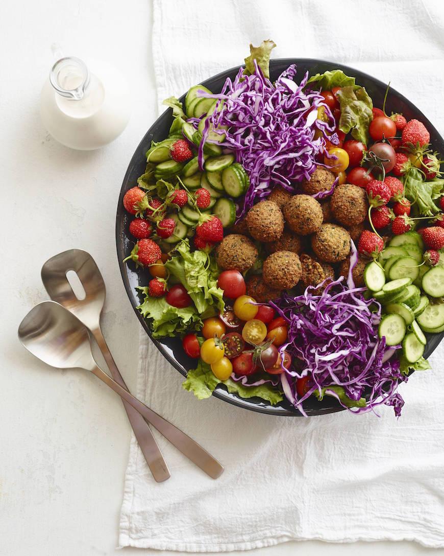 Loaded Falafel Salad from www.whatsgabycooking.com (@whatsgabycookin)