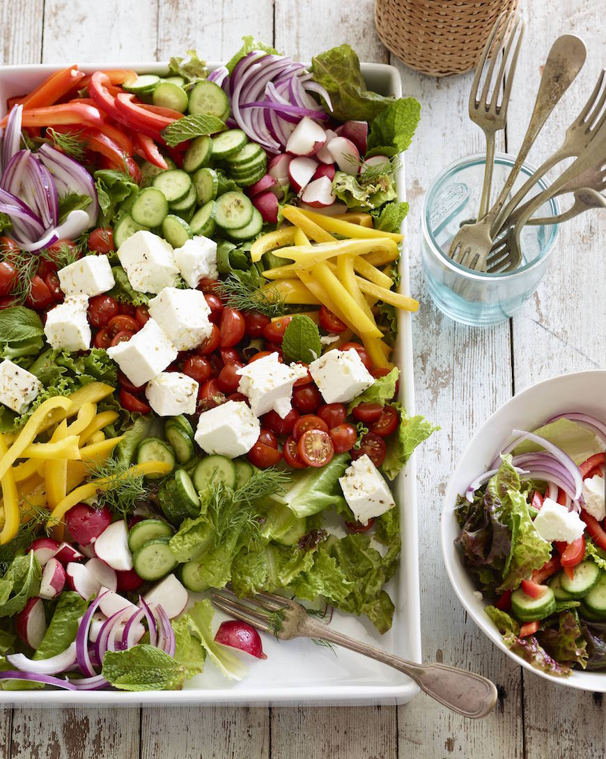Loaded Greek Salad from www.whatsgabycooking.com (@whatsgabycookin)
