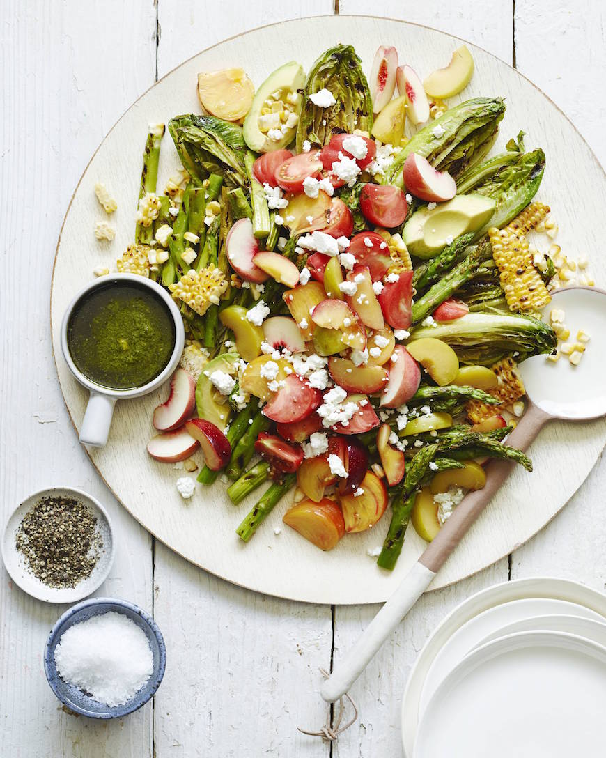 Grilled Romaine Salad from www.whatsgabycooking.com (@whatsgabycookin)
